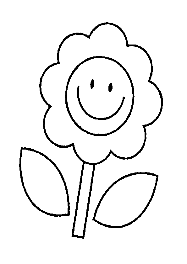 Dibujo Flor Sonriente Kawaii