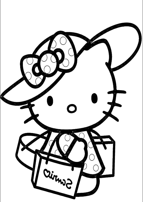 Dibujos de Hello Kitty de compras