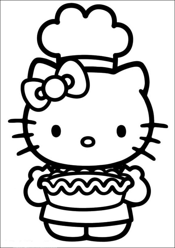 Dibujos de Hello Kitty pastelera