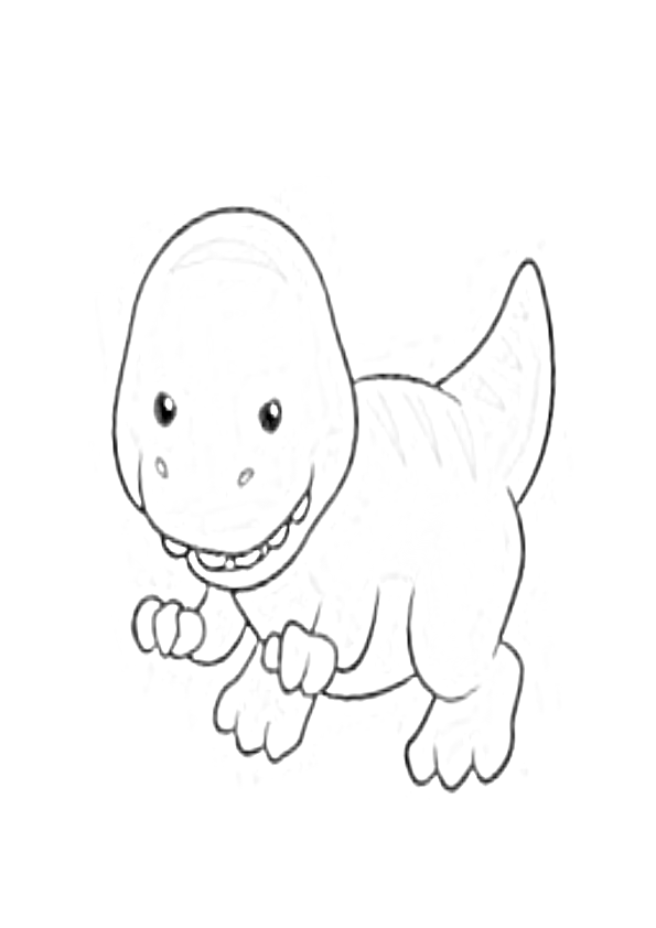 Dibujos dinosaurios kawaii isanosaurus baby