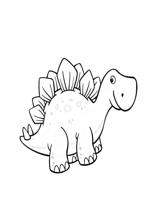 Dibujos dinosaurios kawaii stegosaurus baby