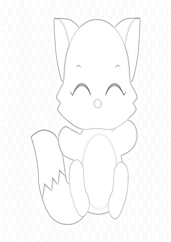 Dibujo de gatito kawaii