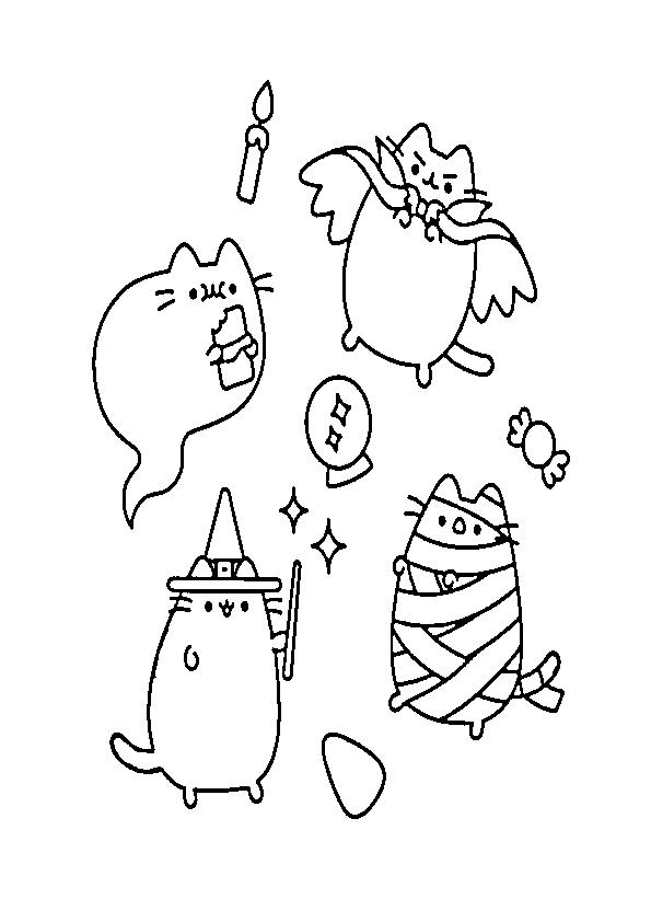 Dibujos de halloween gatitos halloween