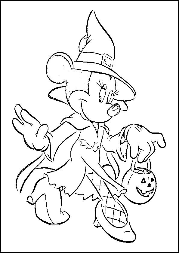 Dibujos de halloween Minnie halloween
