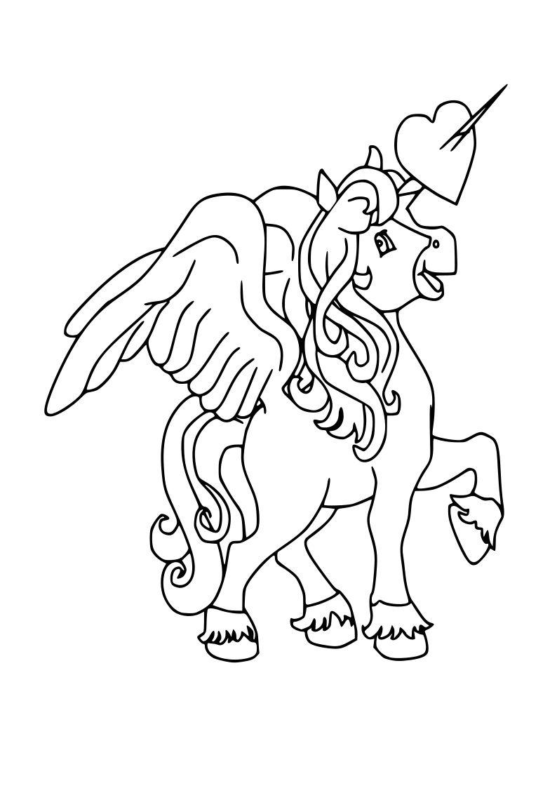Dibujo De Unicornio Kawaii Para Imprimir Y Colorear 2020
