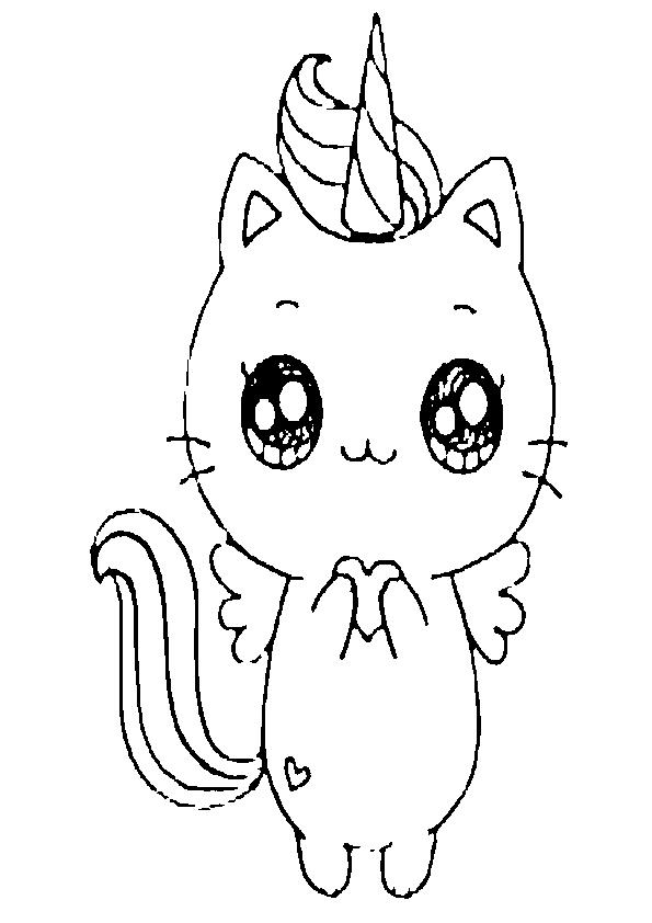 Dibujos gatitos kawaii unicornio