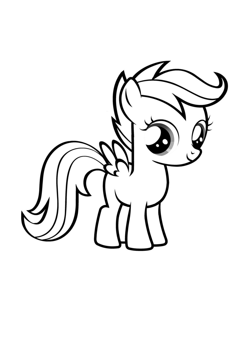 Dibujo little pony kawaii con flequillo