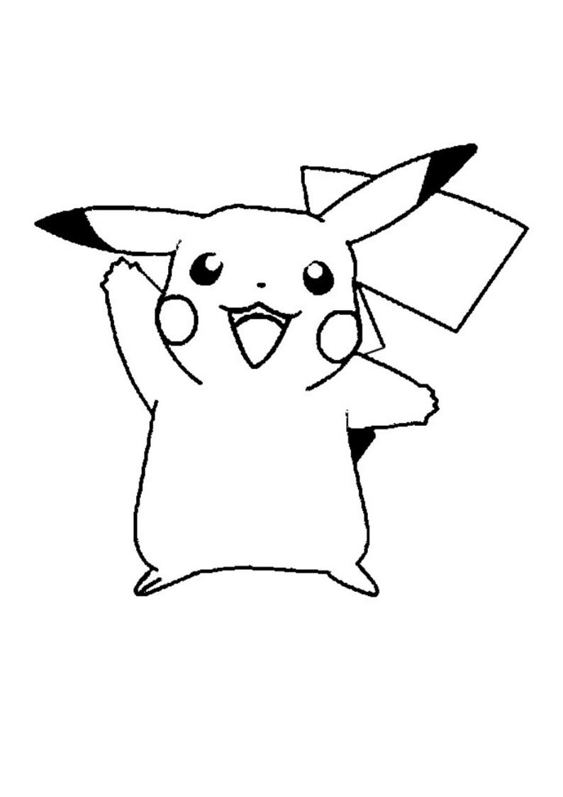Dibujo pikachu kawaii