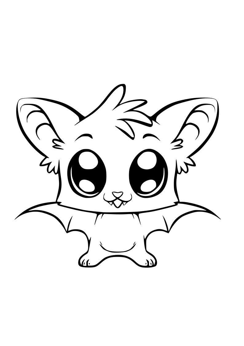 Dibujo ratita voladora kawaii