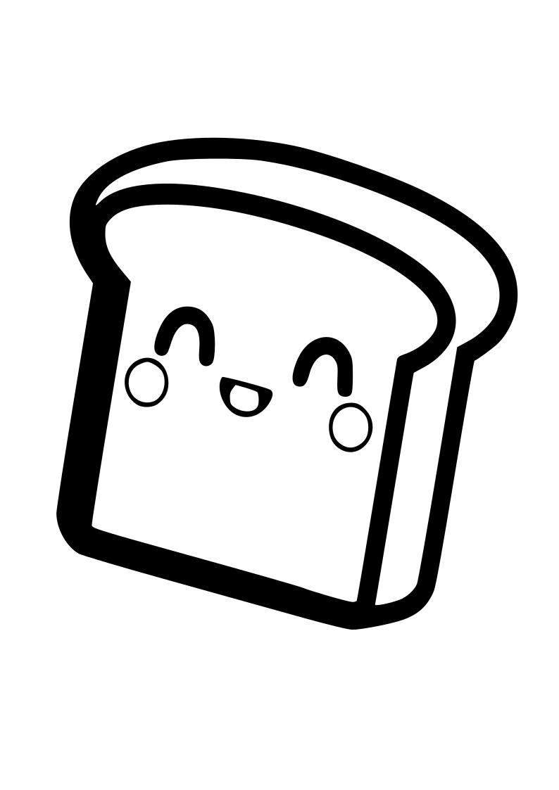 Dibujo sandwich kawaii