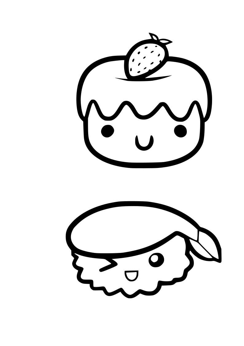 Dibujo tartitas kawaii