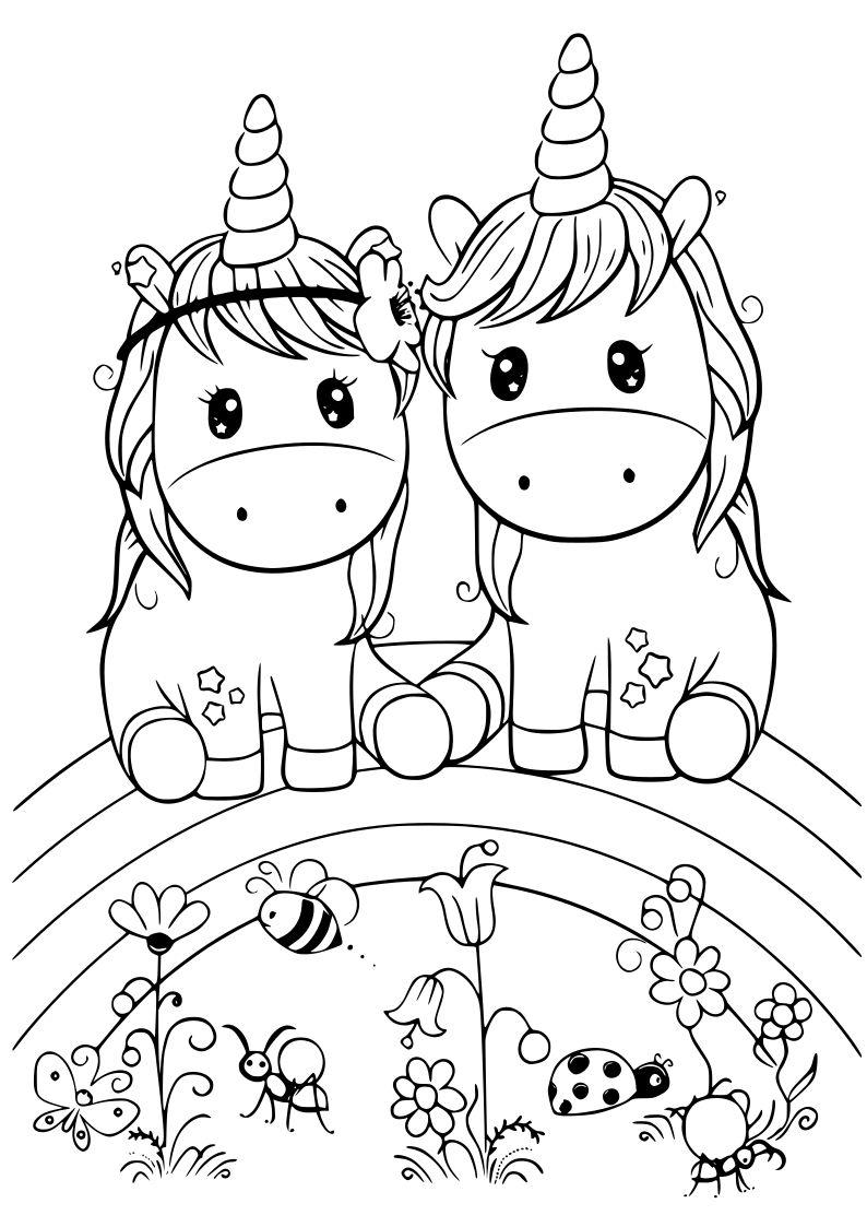 Dibujos De Unicornio Kawaii Para Imprimir Y