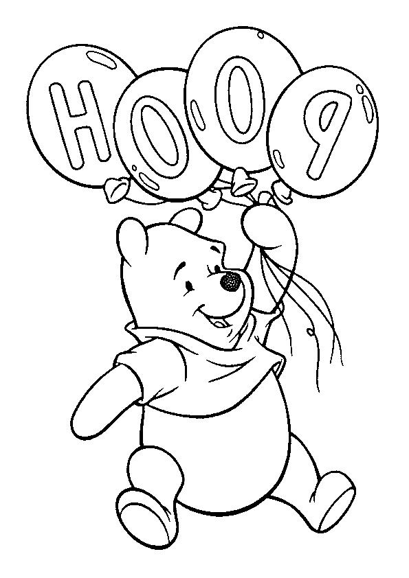 Dibujo de Winnie de Pooh para imprimir y colorear