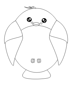 Pájaro kawaii